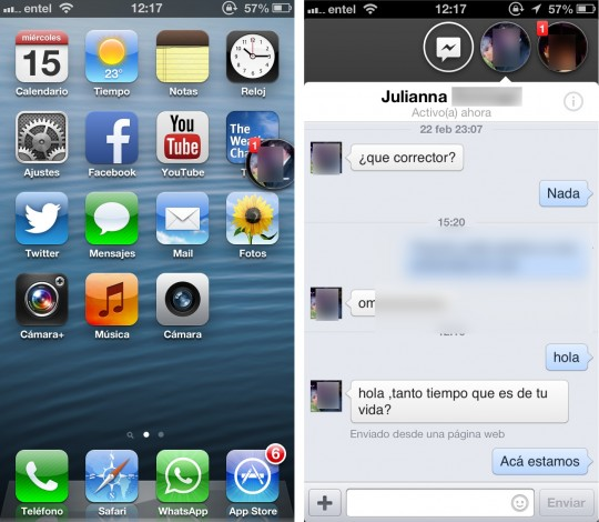 Message Box lleva un pedazo de Facebook Home a iOS